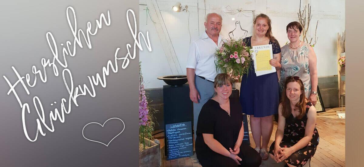 Herzlichen Glückwunsch! Sarah Barcley